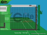 TN1126-Tennis Net,2.6mm Twisted Netting,Single,Regular