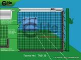 Tennis Net,3.0mm Braided Netting,Single-TN2130