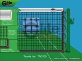 Tennis Net,3.5mm Braided Netting,Leather handband,Single-TN3135
