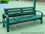 TE2105-Tennis Outdoor Bench,Tennis Courtside Bench,Aluminum,Length 2m